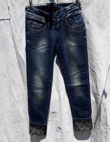 Джинсы - Сокулук: Сокулук женские джинсы, размер 27-28. Очень красивые, в стразах