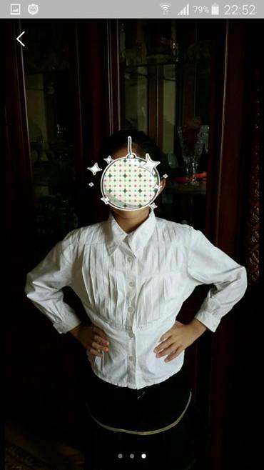 детская белая футболка в Азербайджан: Kofta koynek белая рубашка детский