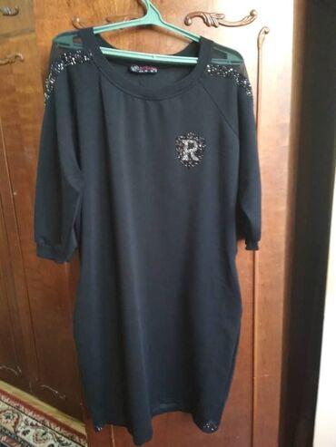 блестящее черное платье в Кыргызстан: Чёрное вечернее турецкое платье до колен,с карманами по бокам,в