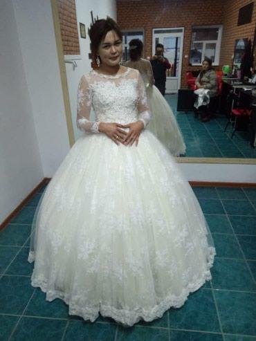 Свадебные платья - Баткен: Свадебная платья, цвет айвори