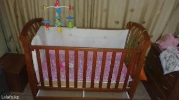Детская кроватка с матрасом и в Бишкек