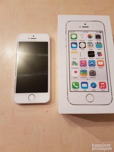 Iphone 5s silver 16gb top stanje telenor - Beograd