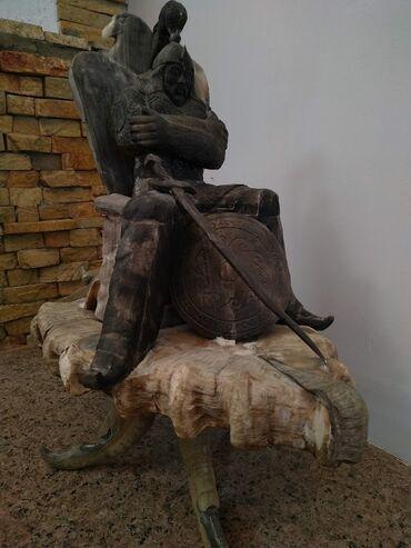 Продается статуэтка воина из национальных костей