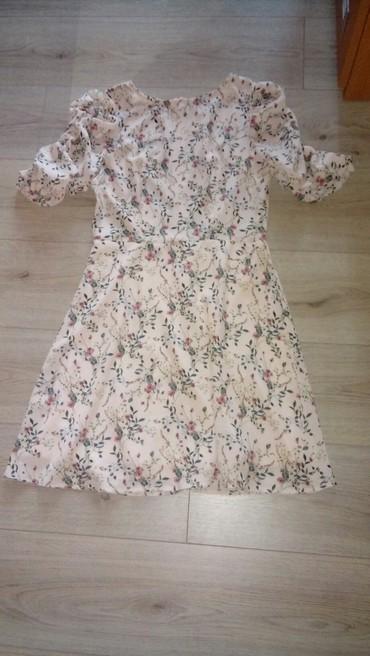 Amisu kombinezon - Srbija: AMISU haljina sa pufnastim rukavima u veličini 40. Nova