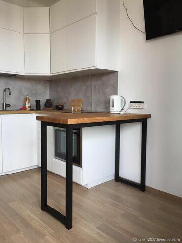 Nameštaj - Borca: Radni sto za kuxinju 1,20x1,10 cm u industriskom stilu koje