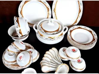 Кухонные принадлежности в Кок-Ой: Столовый набор на 12 персон Костяной фарфор