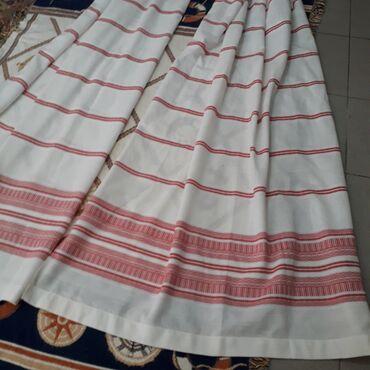 Kućni dekor - Obrenovac: Etno belo crvene zavese 2 komZanimljive zavese ili draperi, dimenzine