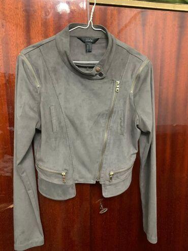 Куртки - Бежевый - Бишкек: Оригинальная молодежная замшевая куртка  Streetwear Society Цвет: беже