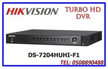 4 ilə audi - Azərbaycan: DVR cihazi Hikvision DS-7204HGHI-F1/4 Audio4Turbo TVI / AHD / HDCVI /