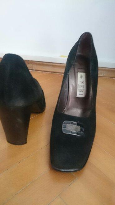 Prevrnuta koža, italijanske cipele,par puta obuvene, za usko - Beograd