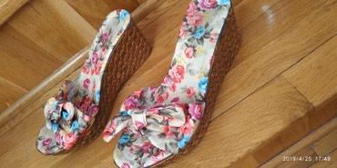 Papuce extra vel 36 cvetne na platformu sa masnom. NOVE - Pancevo