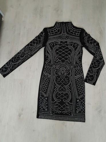 "Kratka crna haljina sa sljokicama ""Balmain"" XS/S - Sabac"