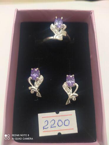 Серебрянные наборы, производство Турция, проба 925й, цена 3720