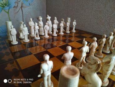 """для детей в Кыргызстан: Эксклюзивные шахматы """"Дети Манаса"""". Изделие выполнено из драгоценного"""