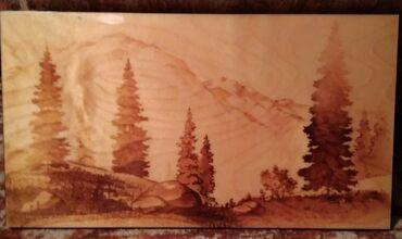 Картина, дерево, 45 ×24,5 см