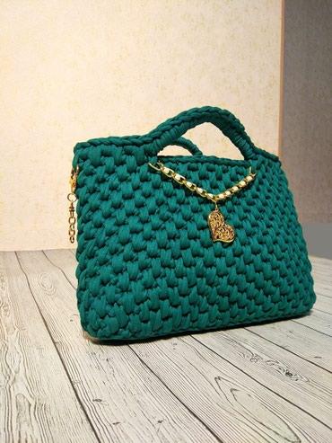 Уникальная вязанная сумочка ,клатч . Новая . Аксессуар от дизайнера в Бишкек