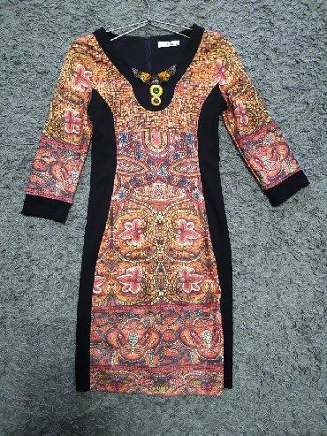 вечернее платье до колен в Кыргызстан: Продаю платье 42 размера. Один раз надевала. Платье визуально стройнит