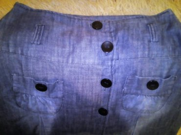 Lagani teksas, nova suknja, dužina 72cm, struk 80cm - Beograd - slika 2