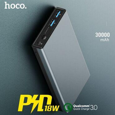 Orginal Hoco power bank 30000mah Eyni vaxtda 2 telefonu şarj