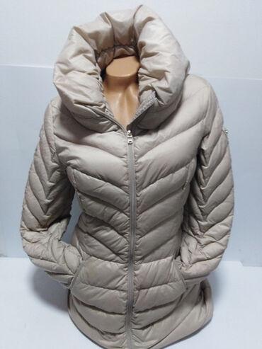 GUESS original duža perjana vrhunska jakna sa velikom kragnom,prelep