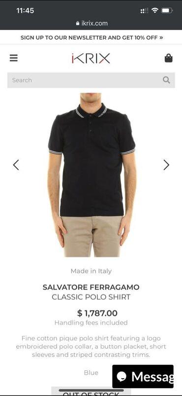 Salvatore Ferrgamo-Original-Polo sa kragnicom-VRHUNSKA u M, L