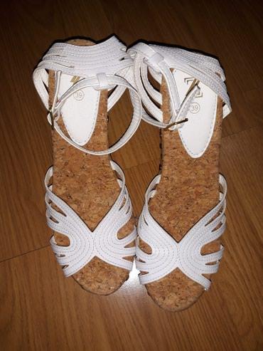 Sandale sa nitnicama,obuvene dva puta,duz.gazista 25,visina 12/4 cm - Smederevo