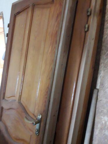 Эшик ( Двери ) Б/У жыгач лакталган 3 штук эки ачылмалуудан экө