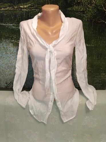 Рубашки и блузы - Кок-Ой: Классная белая фирменная рубашка на стройную девушку. 40р. где-то