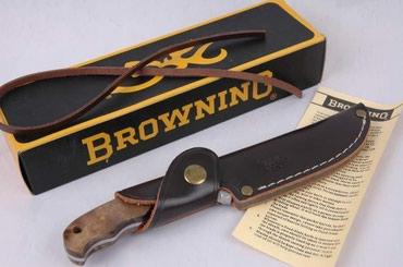 Browning lovački nož sa drvenim koricama, sečivom koje ide celom - Nis