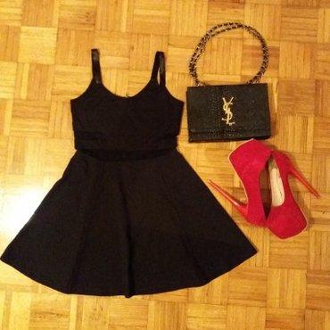 Crna pamucna haljina,gornji deo ima izgled korseta sa kombinacijom - Novi Sad