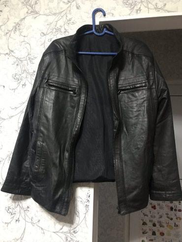 Натуральный кожаный пиджак весений размер 3XL состояние новая в Бишкек