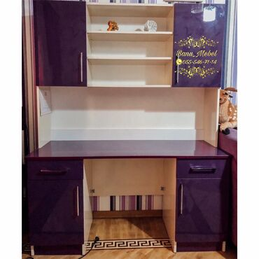 kitab refi satilir в Азербайджан: Kompyuter stolu yazi masasi kitab refi dolab sifarisle hazirlanir iste