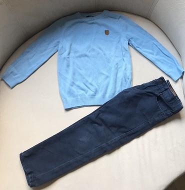 Deciji-dzemper - Srbija: Dzemper i pantalone, velicina 4-5 godina. Dzemper je nov, skinuta je