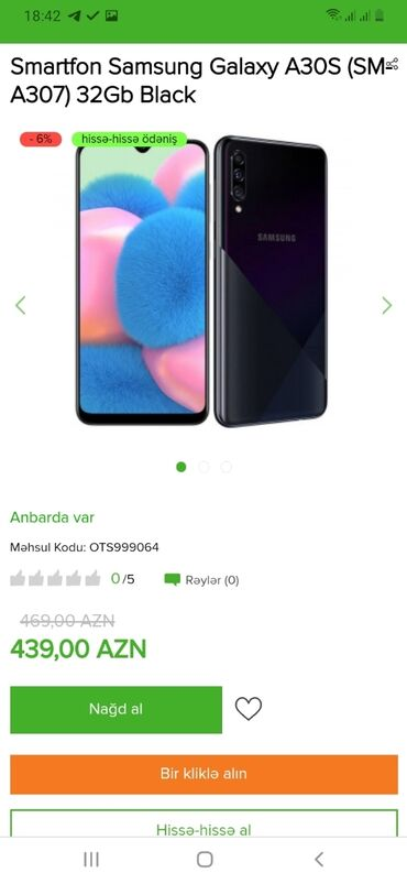 Samsung - Saray: Həm nəğd həm kreditlə Tək şəxsiyyət vəsiqəsi ilə