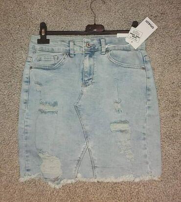 Ženska odeća | Lazarevac: Teksas suknja svetliji teksas, dublji model sa elastinom :) prava cena