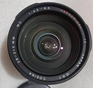 продажа сотовых телефонов в бишкеке в Кыргызстан: Canon EF автофокус Cosina 28-210mm mc 1:4.2-6.5 Aspherical IF Japan