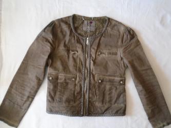 Pletena jaknica - Srbija: Moderna i originalna jaknica, M veličine. Boja je između braon i sive