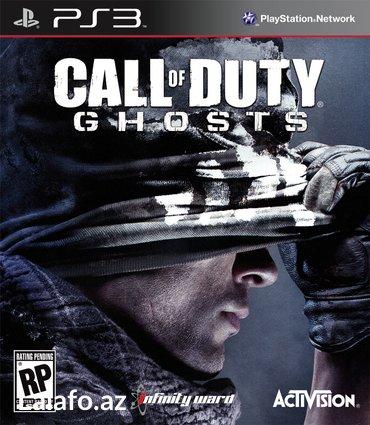 """Bakı şəhərində """"call of duty: ghosts"""" ps3 oyunu"""