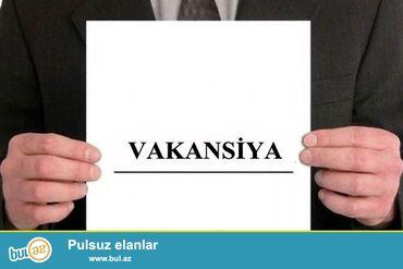 Satış - Bakı: Sirniyyat satici xanimEmek haqqi: 300+30 (yemek puludu)Yas