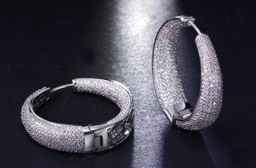 Серьги кольца с цирконами lux, покупала в imperatriz в Бишкек
