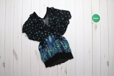 Рубашки и блузы - Цвет: Голубой - Киев: Жіноча блузка в квіточку, р. XS    Довжина: 67 см Ширина плечей: 41 см