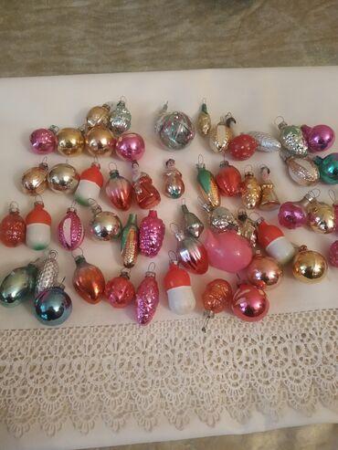 елочные игрушки в Кыргызстан: Ёлочные игрушки-миниатюрки,54шт каждая, СССР