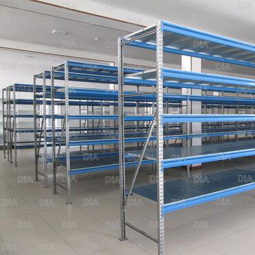 стеллаж полки для материалов в Кыргызстан: Стеллажи для склада, торговое оборудование. Металлические стеллажи