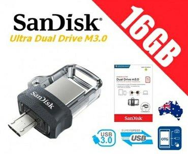 Bakı şəhərində SanDisk Micro Dual 16GB USB3.0 dəstəkli.