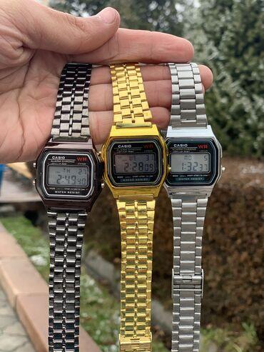 купить золотые часы в бишкеке in Кыргызстан   АВТОЗАПЧАСТИ: Casio  Ретро часы Casio . Подсветка . Качество отличное . Дни недели