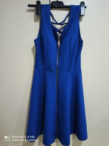 Ženska odeća | Rumenka: Kraljevsko plava haljinica, NOVA(nikada nošena)