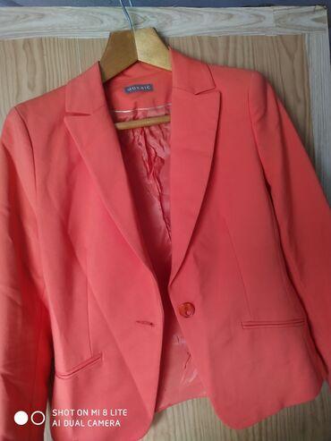 Пиджак оранжевый, женский, состояние идеальное,не носила, размер 44-46