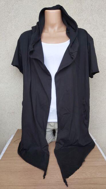 Košulje i bluze | Pozarevac: Crni pamucni kardigan NOVO bez etiketeVel. S/M 499din.Duzina