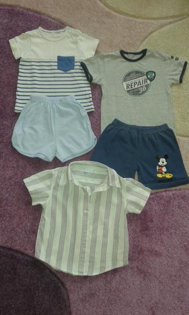 Ostala dečija odeća | Kovilj: 2 sorca, 2 majce i kosulja za decake velicina 2 ocuvano!