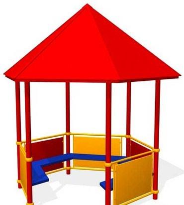 Беседка для детского сада Размер: 2000*2000*2500 мм в Бишкек
